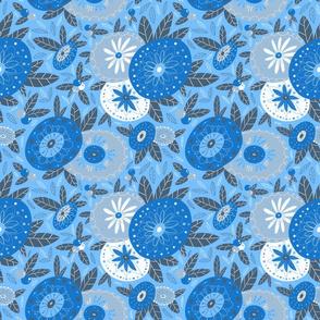 '60s Florals Blue