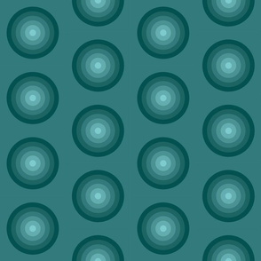 Maya, circles geometric, greenblue, Relax Night and Day