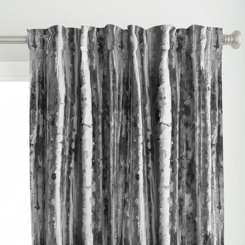 Black and White Birch Forest by kedoki
