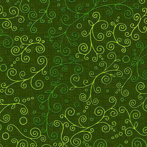 Floral design, green
