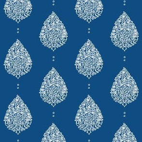 Moroccan Paisley Classic Blue and White