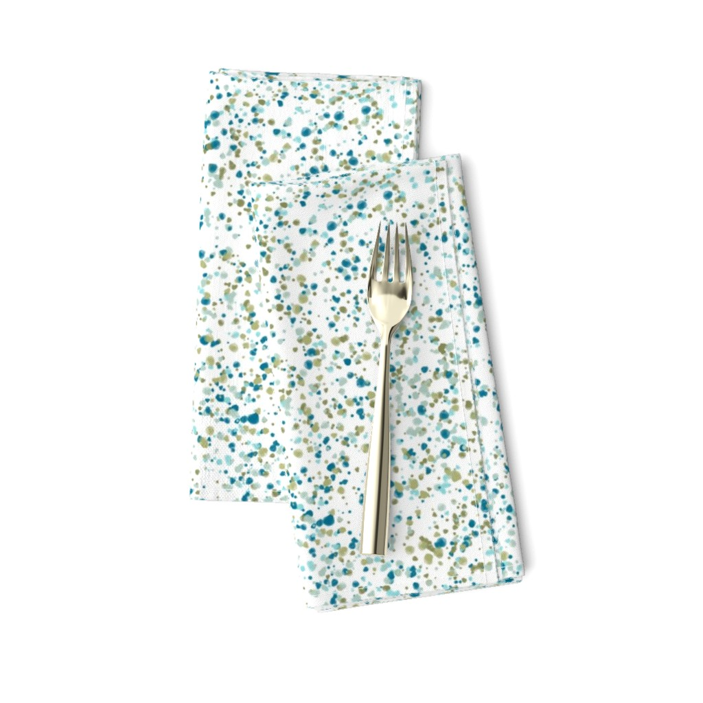 Amarela Dinner Napkins featuring confetti blue + green by kateriley