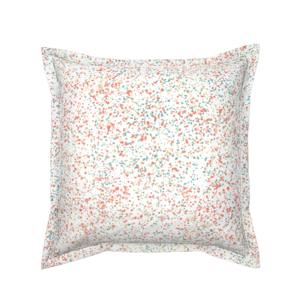 Serama Throw Pillow featuring confetti blush + aqua by kateriley
