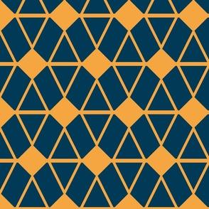 Geometric Pattern Blue/Orange
