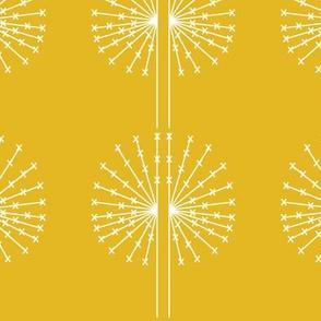 Dandelion on yellow