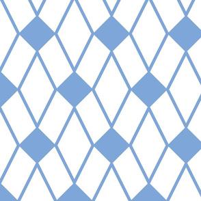 Geometric Blue/White