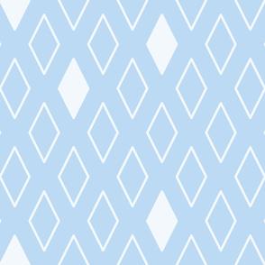 Diamonds in Blue/White