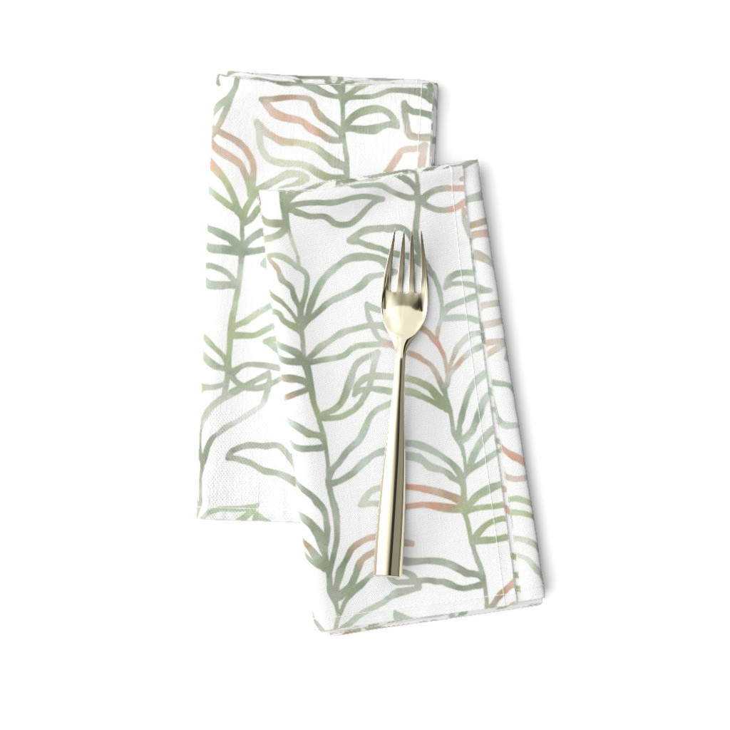 Amarela Dinner Napkins featuring Watercolor Summer Vine, Olive by kateriley