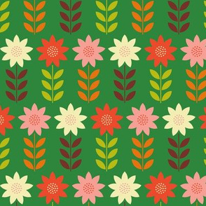 Folk Art Poinsettia