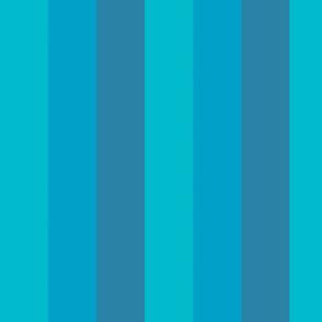 Hues of Blue Stripes