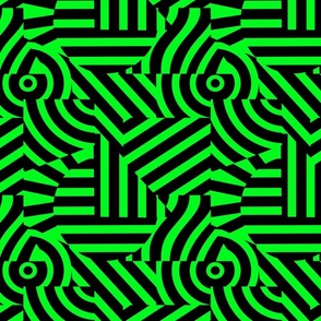 abstract trippy neon green and black