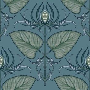 Nouveau Arctic Queen Flower damask