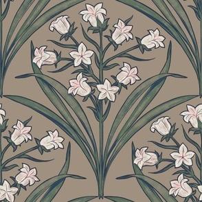 Art Nouveau Mountain Lillies