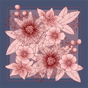 Floral Scarf Rose