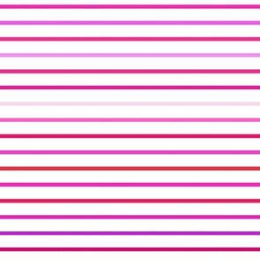 XOXO Valentine's stripes - small