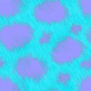 Monster fur aqua purple