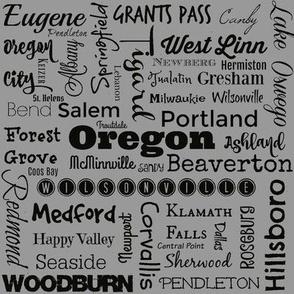 Cities of Oregon, std gray