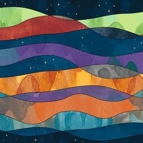 Planetary Landscape in Watercolor © Jennifer Garrett