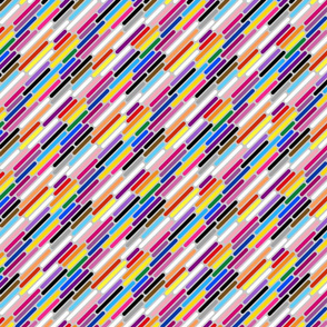 Universal Pride Stripes - diagonal