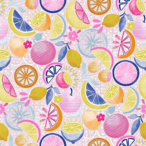 Summer Citrus Pop-art 8""