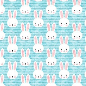 (small scale) bunny on light blue - easter & spring bunnies - C19BS