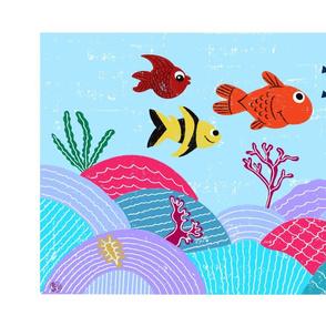 Underwater Tea Towel