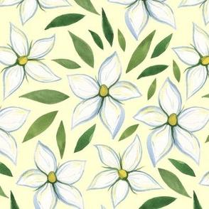 Watercolor Gardenias