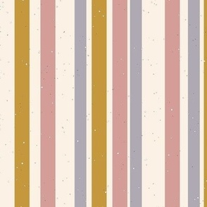 vintage striped fabric speckles on cream