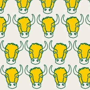 Bison Friends - Linen, Gold, and Green