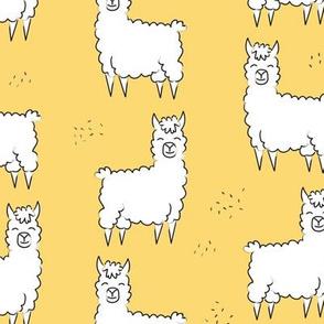 Llama print-  yellow