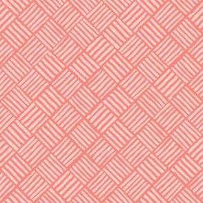 Diagonal Weave Australian Coral