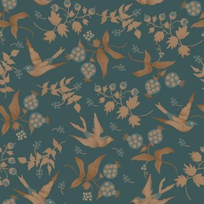 Porch Perfect birds teal 2020-10