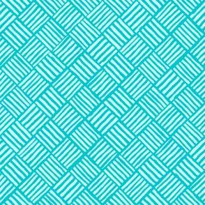 Diagonal Weave Turquoise Surf