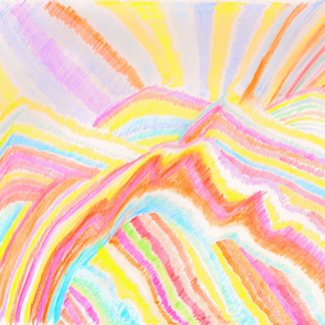Abstract Landscape - Rainbow Mountains