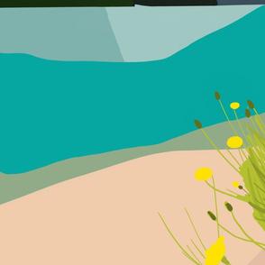 Abstract Landscape - Mountain Lake