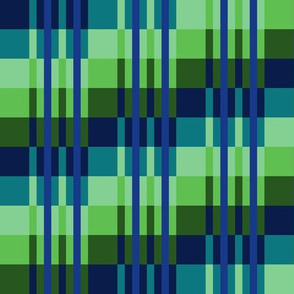 Small -  Step Up Stripes in Subdued Lime Pastels - Olive Green - Teal Pastel - Royal Blue