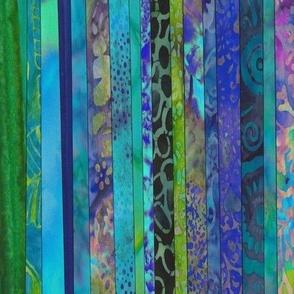 """Blue Gray  Boho Patchwork 12"""" Squares"""
