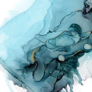 Abstract Ocean Blue