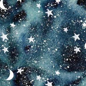 stars and moons // midnight sky