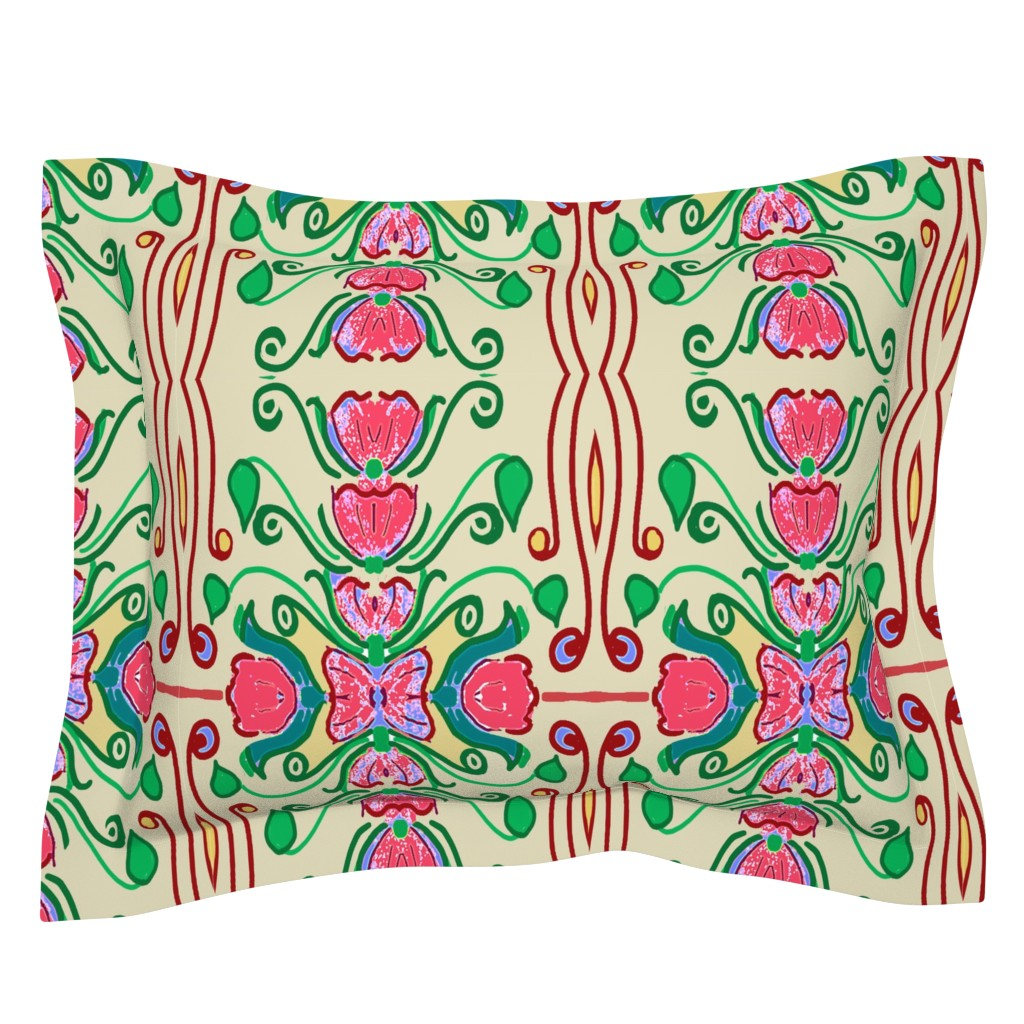 Sebright Pillow Sham featuring ELEGANT STRIPE  by soobloo