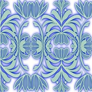 ELEGANT BLUE FLOWERS