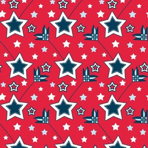 Country Patriotic Shooting Star Arrows in Red, White, Blue