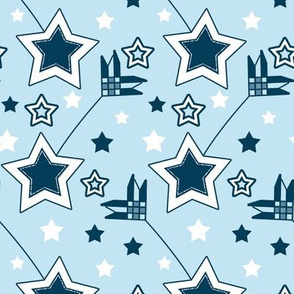 Blue and White Shooting Star Arrows