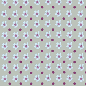Wine Dots And Flowers