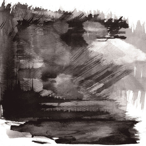 Ink Wash Landscape Wall Hanging