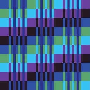 Step Up Stripes in Lime - Aquamarine - Purple - Violet