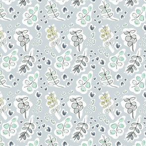Eucalyptus on Grey