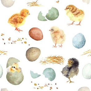 Easter Chicks // White