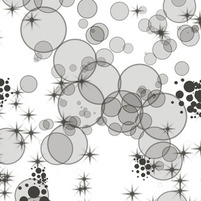 black white bubbles