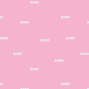 Sweet love and kisses xoxo minimal text design valentines day soft pink girls